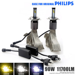 Wholesale Plug Play W Car LED Headlight Conversion Lamp Kit Case For Genuine PHILLPS V H1 H3 H4 H7 H11 D2S