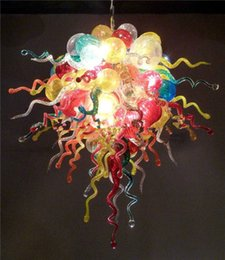 Romantic Style Multi Colored Murano Glass Chandeliers 100% Hand Blown Glass Chandelier Bedroom Decor Crystal Chandeliers