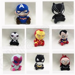 Wholesale KKA208 The Avengers Black Knight Bat plush ornament doll Super Heroes Captain America Thor Iron Man Batman The Hulk Plush Doll