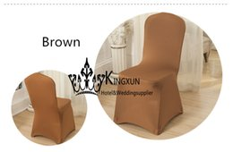 Brown Color Cheap Banquet Wedding Chair Cover From China Factory
