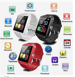 2016 Bluetooth - Pphone USAGE U8 Smart Watch sport running Timing Wrist Watch available English Chinese Red White Black