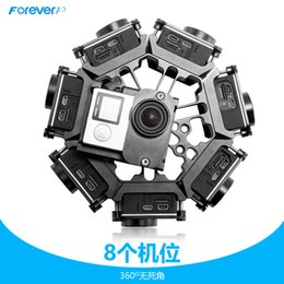 Wholesale 2016 CNC Aerometal Gopro Panoramic Bracket Degrees Spherical Panorama Frame Mount Go Pro Hero Cameras