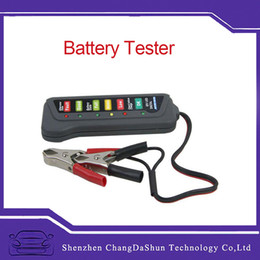 Tirol Nuevo seguro y fácil de operar 12V Auto Car Battery Alternador Carga 6 LED Light Battery Tester Digital Display Indica desde las luces de carga fabricantes