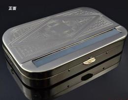Papiers à cigarettes à vendre en Ligne-Automatique à cigarettes en métal Rouleau tabac rouleuse Cigarette Rouleau Box Case Tin pour 110mm Papiers en acier inoxydable vente chaude