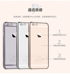 Luxury Ultra Thin hard Transparent Clear Plating PC Case Hard Back Cover Phone Bag For iphone5s se 6 6s 6  6s plus