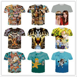 Wholesale 2016 Summer in Europe and the man short sleeve T shirt hd d printing animated cartoon Simpson