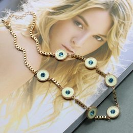 New Fashion Jewelry Copper alloy Blue imitation gemstones Hot necklaces & pendants short Round necklace for women 2017 love 1 PCS