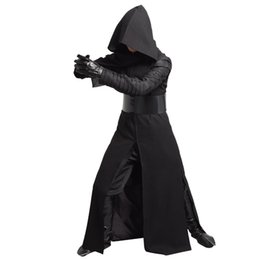 Wholesale Hot STAR WARS Kylo Ren Cosplay Adult Costume Force Awakens Deluxe Mens Cosplay Full Set Halloween Clothes