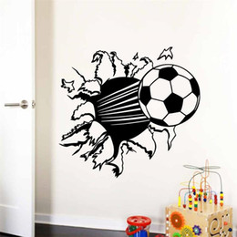 Wholesale Ebay hot selling soccer Ball Football vinyl Wall Sticker Decal for Kids Rooms Decor Sport Boy Art Bedroom