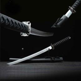 Japon épée courte Samurai Katana épée en acier au carbone à la main Katana alliage Tsuba Scrub bois Fourreau Home Decor Belle épée à partir de gommage main fabricateur