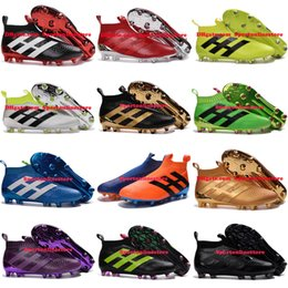 Wholesale ACE PureControl Primeknit FG Soccer Cleats High Top For Men Laceless Mens Soccer Boots Ankle Football Boots Cheap Soccer Shoes New