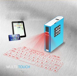 Wholesale 7800mAh Wireless Laser Keyboard Characters min Bluetooth Red Diode Laser Virtual Keyboard with Bluetooth Speaker Power Bank XN204