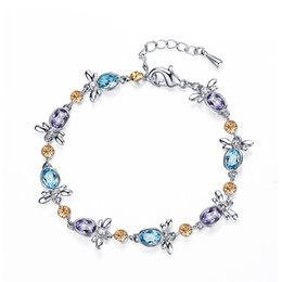 2016 New Fashion Bracelet Hot Trendy Women's Girl's Filled Colorful Austrian Crystal Bracelets & Bangles Jewelry