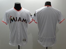 2016 Flexbase Free Shipping Miami Marlins Mens Blank Baseball Jerseys White Grey Black Cheap Outlets Store