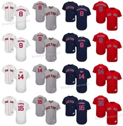 Wholesale Boston Red Sox baseball jersey Carl Yastrzemski ted williams Jim Rice Dustin Pedroia throwback baseball jerseys mlb jersey