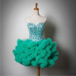 Descuento damas mini vestido vestido Diseño de moda con encanto rebordeó vestido de fiesta vestido de las señoras de 2016 Alfombra corto diseñador del vestido de bola Mostrar