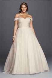 Off The Shoulder Beaded Lace Sweetheart Plus Size Wedding Dress 9WG3785 Beading Lace Bodice Bridal Gowns