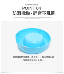 Wholesale New Hot Design Non slip Stainless Steel Pet Dog Bowl Puppy Cat Feeding Dish Bowls Food Containers gamelle pour chien