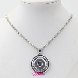 New Arrival Wholesale Snap Jewelry 18mm Round Shape Pendant Necklace Interchangeable Snap Necklace for Interchangeable Buttons