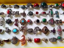 Brand New 50PCs Women's Vintage Beautiful Mixed Styles Alloy Jewellery Rings