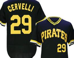 Wholesale Cheap Uniform Shirts For Men - Pirates #29 Cervelli Baseball Jerseys Black Baseball Jerseys Cheap Baseball Jerseys for Men Baseball Shirts Stitched Baseball Uniform