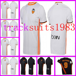 Wholesale home away Valencia Jerseys Shirt Alcacer Gomes Gaya Parejo Wholesalers Spanish league Jersey rugby The best name