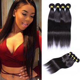 Wholesale 6A brazilian Peruvian indian Malaysian Hair Extensions straight Double Weft No Shedding NO Tangle Durable a