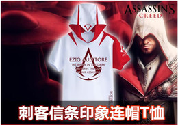 Wholesale fashion cheap t shirts for men men t shirt short sleeve hoodie assassins creed tshirts for men Game Animation t shirt