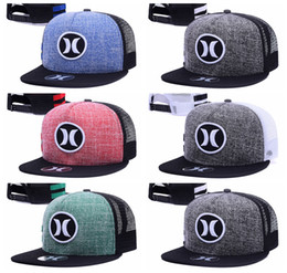 Wholesale Hurley Cap Summer Street Snapback Hats Fashion Men Woman Hip Hop Casquette Baseball Sport Panel Popular More Colors Ball Gorras mix order