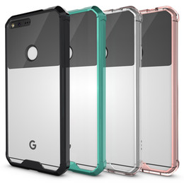 Wholesale For Google Pixel Case Transparent Clear Hybrid Bumper Shockproof Back Cover Phone Accessories For Google Pixel Google Pixel XL