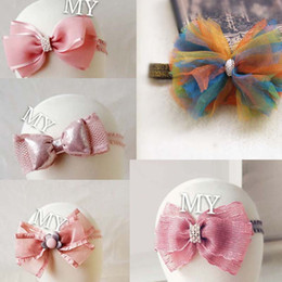 high quality lace Baby Headbands and Bows Baby Headbands Baby Girl Christening princess pink 0-3 years