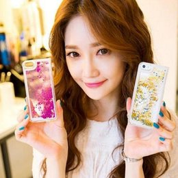 Colorful Moving Stars Liquid Glitter Quicksand 3D Bling Phone Case Cover for iphone 6s 6s plus Shining Star hotselling