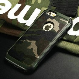 Wholesale Manufacturers selling iphone plus camouflage stick a skin following from shock drop in one new case