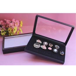 1 pcs 36 Slots Black Velvet Rings Jewelry Showcase Display Case Box Holder Organizer shipping