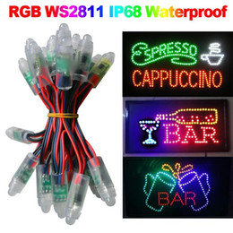 500pcs lot 12mm WS2811 Led Pixel Module,IP68 Waterproof DC5V Full Color RGB String Christmas LED Light Addressable
