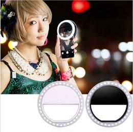 Wholesale LED selfie ring light Flash spotlight circle round fill in light lamplight speedlite Enhancing photography for iphone samsung smartphone