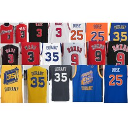 Wholesale Mens Dwyane Wade Rajon Rondo kevin durant KD derrick rose stitched jersey embroidery