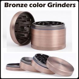 Wholesale 2016 NEW Bronze Color Grinders mm Aluminium Alloy Herb Grinders Crusher Grinders Pieces Grinder VS Bulldog Grinders
