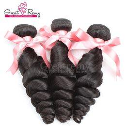 Mongolian Hair 3pcs lot Virgin Human Hair Weave Wavy Loose Wave Fast Shipping Natural Color Greatremy DropShipping