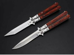 Benchmade JL27 Butterfly Balisong 5Cr13Mov 56HRC Wood Handle Steel Tactical Folding Knives Hunting Survival Pocket Knives EDC Tools