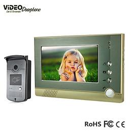 Systèmes d'interphone de portier vidéo en Ligne-FKH 7 pouces TFT couleur Wired Video Door Phone avec carte d'identité fonction Système d'entrée d'interphone