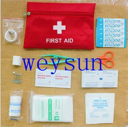 Wholesale Elaborate First Aid Survival Bag Wrap Gear Outdoor Hunting Camping Emergency Medical Pack Kit