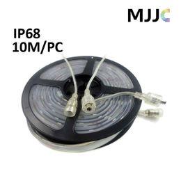 10M 12V 24V IP68 Silicon Glue Waterproof LED Strips 5050 SMD 60LED M 300LEDs Warm Cool White Stripe Lighting Outdoor