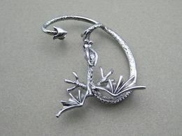 Wholesale Dragon Ear Cuff Earring Alchemy Gothic Stud Wrap Dragon s Lure Ancient Silver Fly Fashion Jewelry AL619