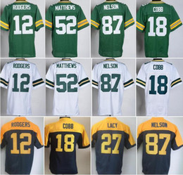 Wholesale New Aaron Rodgers Jersey Green White Randall Cobb Jordy Nelson Clay Matthews Jerseys Uniforms Eddie Lacy Ha Ha Clinton Dix