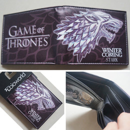 New HBO Game of Thrones House Stark Winter Is Coming wallets Purse 12cm Leather