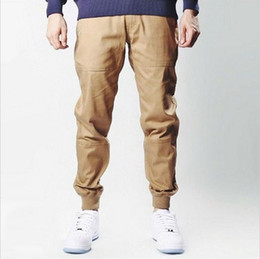 mens urban clothing M-2XL unisex khakis dress jogger pants fashion high quality skinny publish black navy green khaki joggers