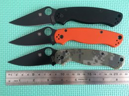 Wholesale Best Price Spyderco C81GPCMO2 Paramilitary Knife Spyderco C81 knife S30V G handle Top quality lowest prices Real photo