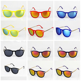 Wholesale New Fashion Womens Mens Flash Mirror Sunglasses Summer Metal Hinge Sunglass Color Texture Flocking Sheeting DHL lh2