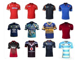 Wholesale 2016 nouvelle zélande Highlanderes Rugby Jersey lnr croisades Rugby Jersey hommes accueil Jersey pays de galles Rugby maillots